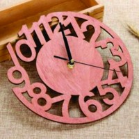 Modern Cut Dial Wall Clock WC116