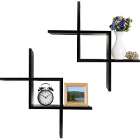 Set of 2 Criss Cross Wall Shelf (WS106)