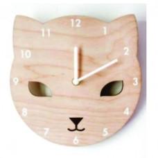 Cat Design Wooden Clock For kids room WC120