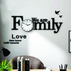 Family Alphabet Large Decorative DIY Wall Clock WC125