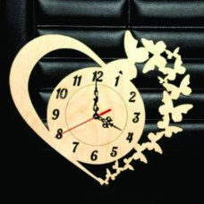 Heart Buterfly Wall Clock WC126