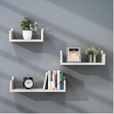 3pc Floating Wall Shelves 'U-Shape' (WS101)
